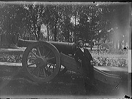 [Man with Cannon in City Park]