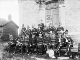 [Wolfe Island Band Sitting With Instruments]