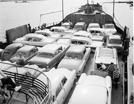 Cars on Deck of Wolfe Islander