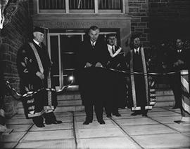 Queen's Convocation and Opening of Law School with Prime Minister Diefenbaker Present