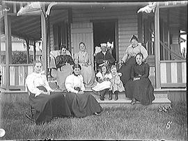 [Cape Vincent, N.Y. Family Gathering on a Porch]