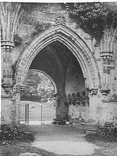 [Gothic Architecture of the Chapter House at Furness Abbey]