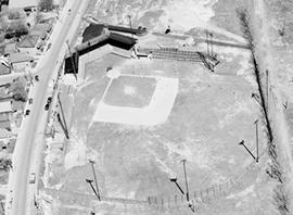 Aerial. Division Street and Megaffin Stadium