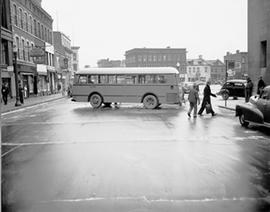 Bus on Slippery Street